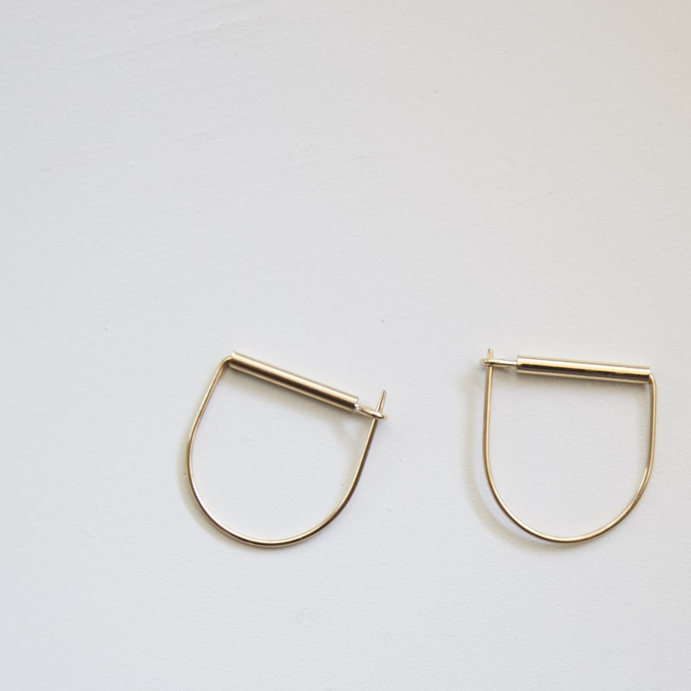 Gold Horseshoe Earring $14
