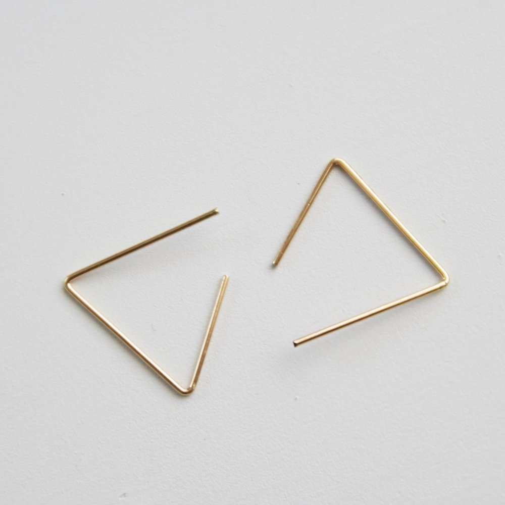 Gold Triangle Earring $14