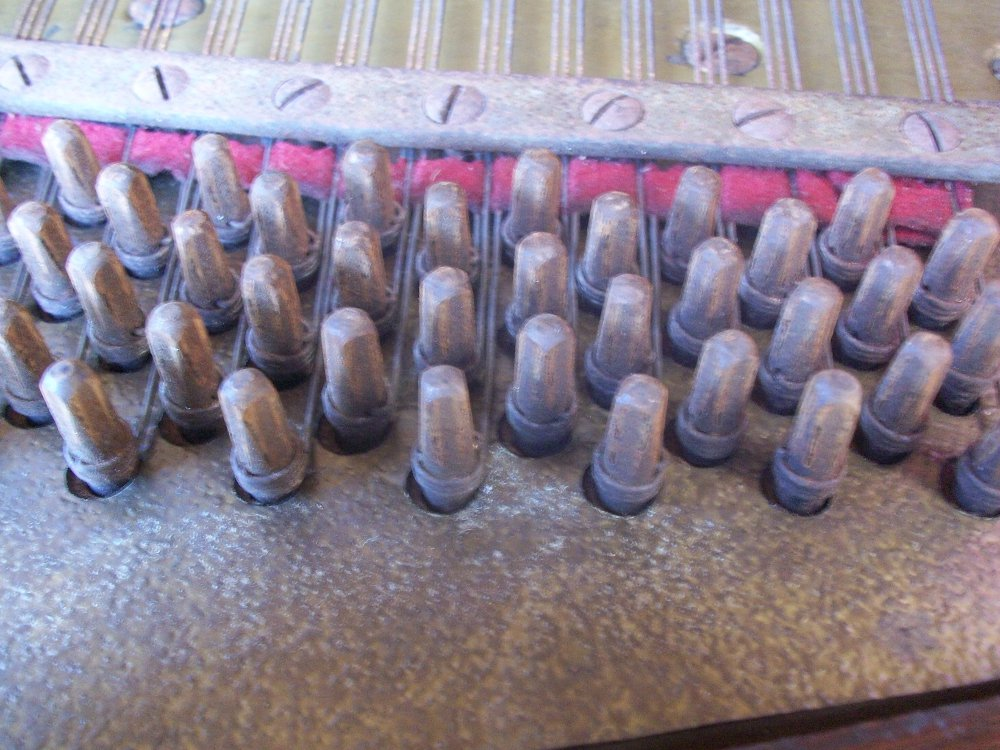 Tuning pins before applying CA glue.
