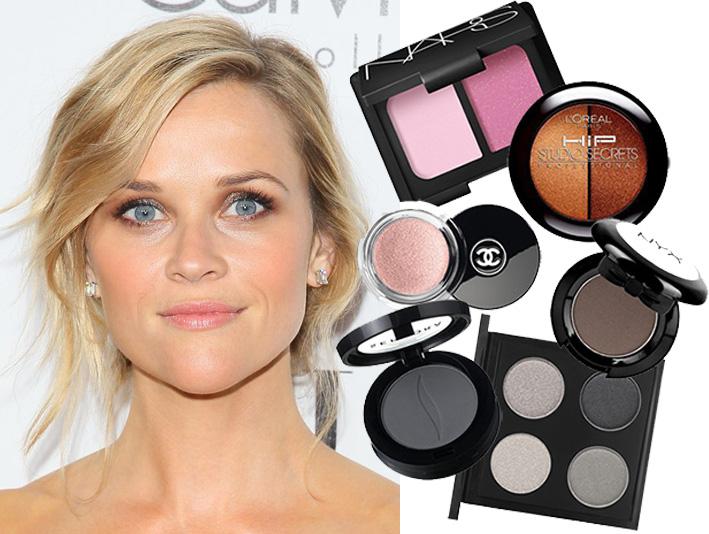 reece withersppon, makeup, red carpet makeup, makeup for eye color, celebrity makeup