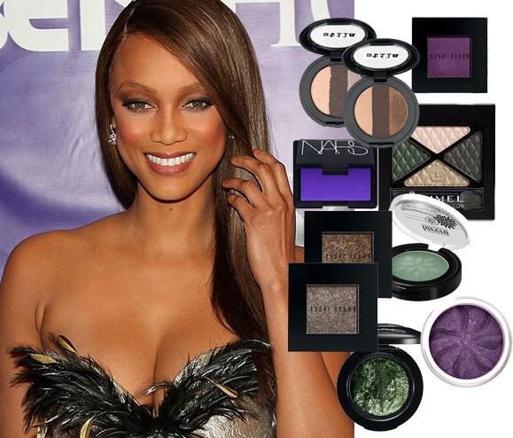 tyra banks, american's next top model, makeup, red carpet makeup, makeup for eye color, celebrity makeup