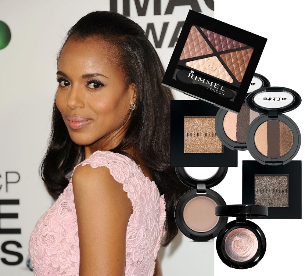 kerry washington, scandal, makeup, red carpet makeup, makeup for eye color, celebrity makeup