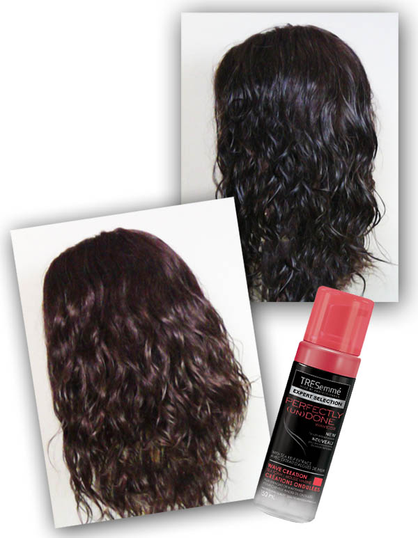 TRESemme  Perfectly (Un)Done  TRESemme Sea Salt Spray and TRESemme  Perfectly (Un)Done   TRESemme Wave Creation Sea Foam