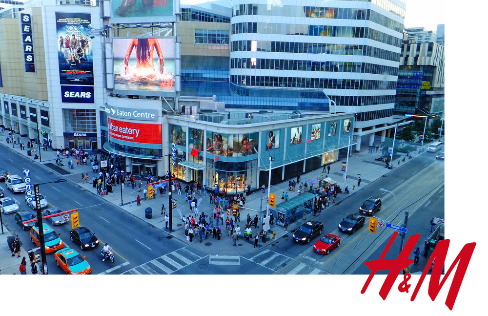 H&M store at yonge and dundas in toronto