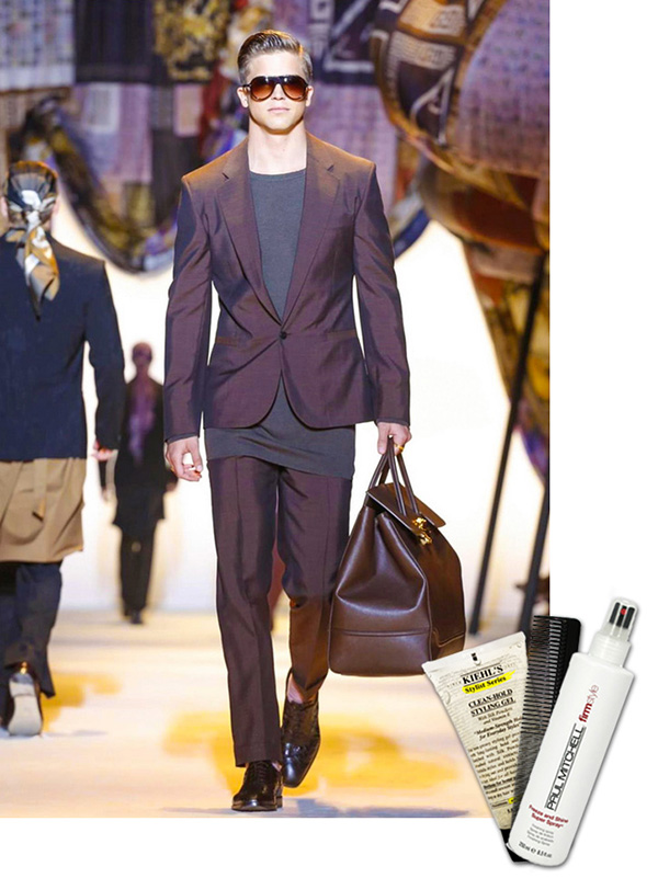 milan mens fashion week, kiehls clean hold styling gel, paul Mitchell shine spray