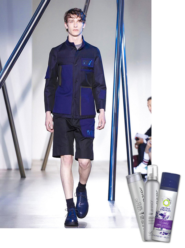 milan men's fashion week, joico curl definer, joice hair spray, herbal essences curl ehancher
