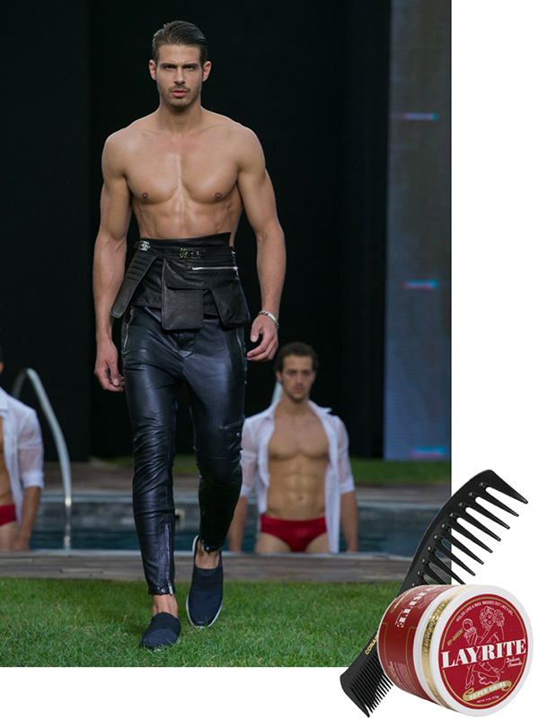 milan men's fashion week, layrite, mens grooming, conair comb