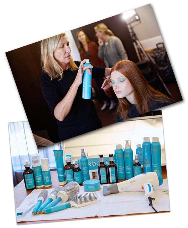 hair by odile gilbert for moroccanoil photography: mohamed Khalil for morocconoil
