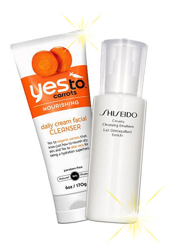 yes to carrots daily cream facial cleanser, shiseido creamy cleansing emulsion, glowing skin, highlighter, how to highlight your face, how to make your skin glow, tlv birdie, lazy girls guide to glowing skin, byridie beauty