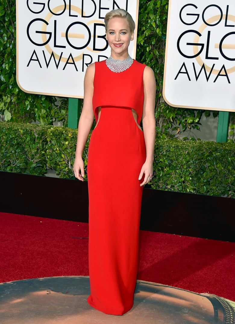 golden globes, golden globe awards, golden globes 2016, red carpet jennifer lawrense, jlaw