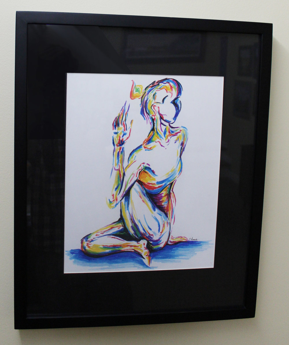 """Fire Gypsy, LLC - 11""""x14"""" Pastel Painting - Matted and Framed - Value $250"""