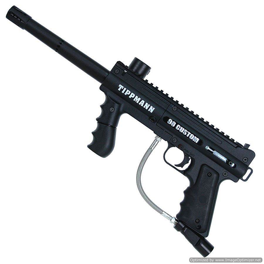 GI Sportz - Tippman 98 custom platinum 68 caliber paintball marker with A.C.T. - Value $160