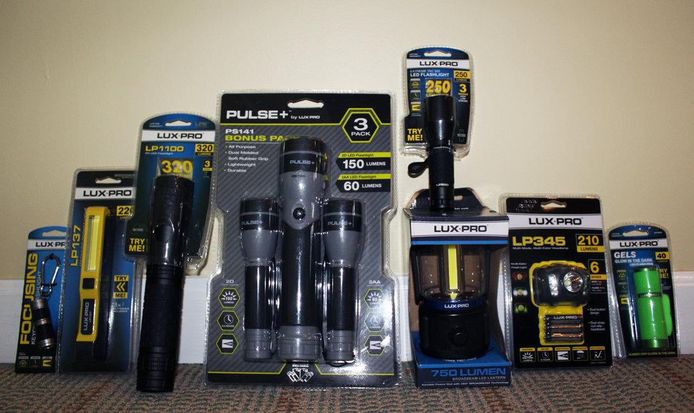 LUX-PRO Flashlights - Flashlight & Lantern Assortment - Value $132