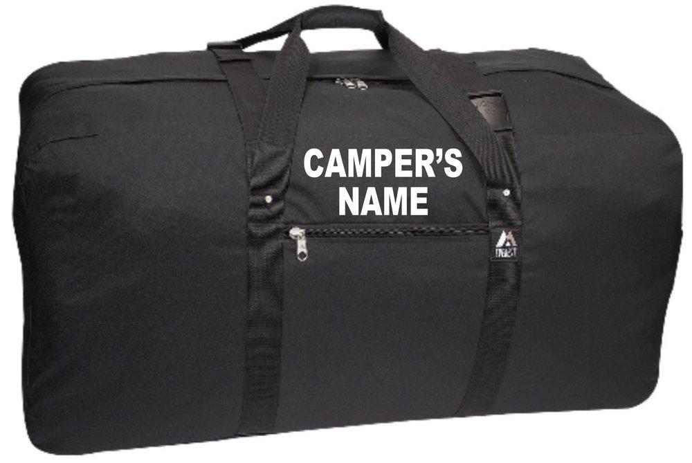 Brody's -Custom Printing -Camper's Starter Package - Jumbo Duffle, Dopp Kit, Hooded Sweatshirt and laundry bag - Value $100