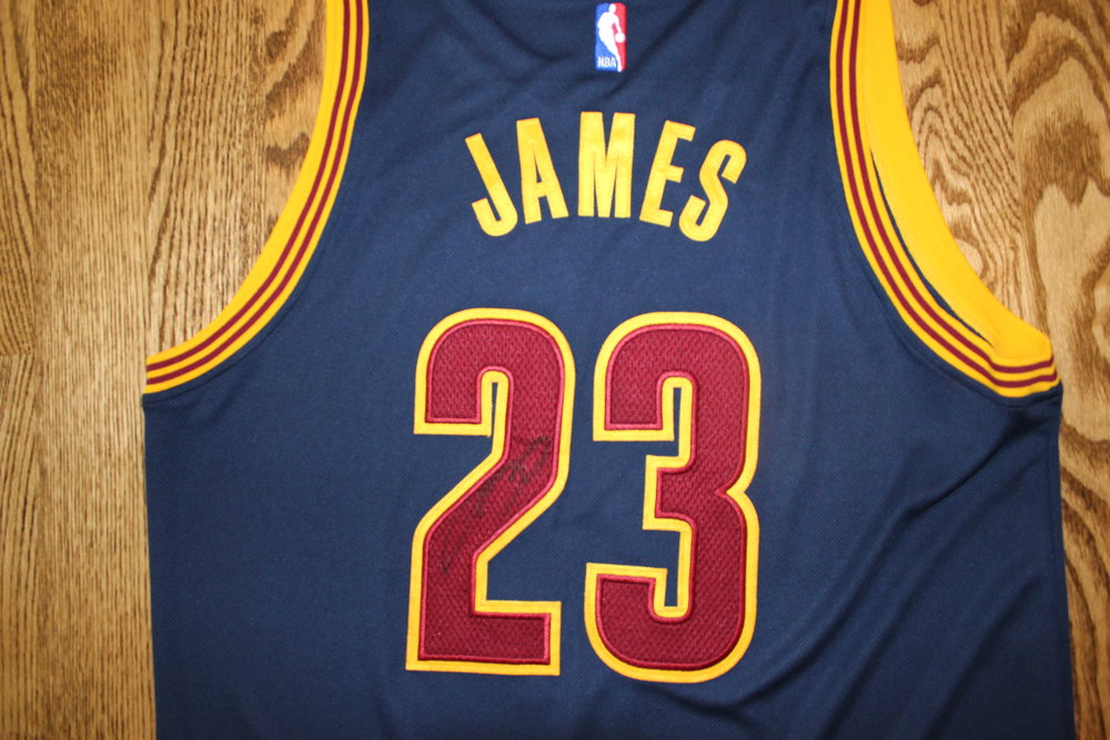Cleveland Cavalier's- LeBron James Autographed Jersey with Certificate of Authenticity - Value $500