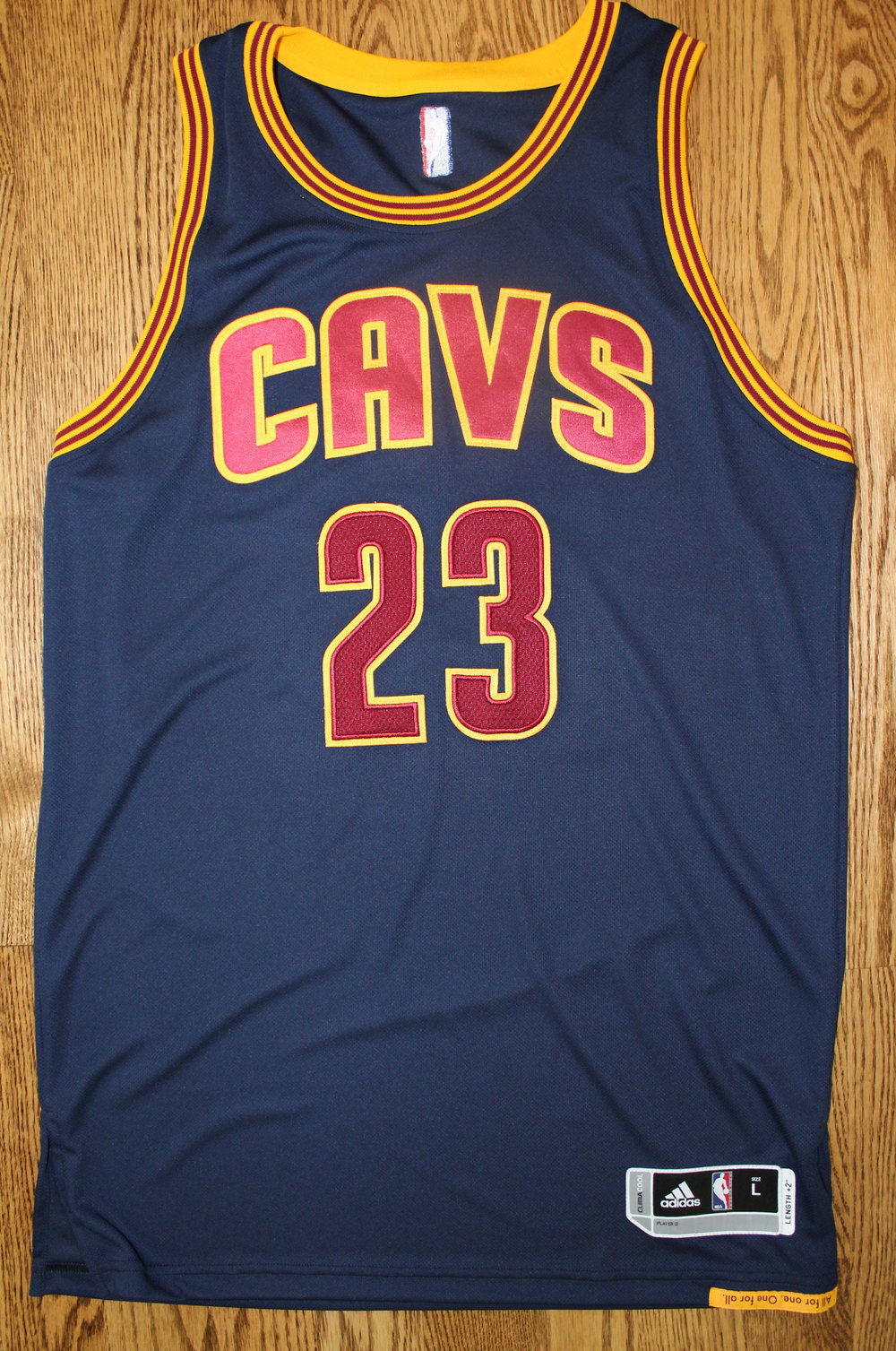 Cleveland Cavalier's LeBron James Autographed Jersey with Certificate of Authenticity
