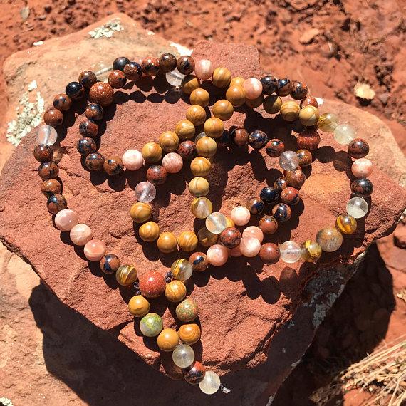 Antojai Shamanic Wellness - _Nosa_ Mala Necklace - Abundance, Uplifting, Manifestation, Healing2.jpg
