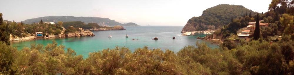 View overlooking a part of Palaiokastritsa, Corfu