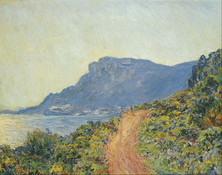 Road on the way to Menton, Claude Monet (On display at the Rijksmuseum, Amsterdam)