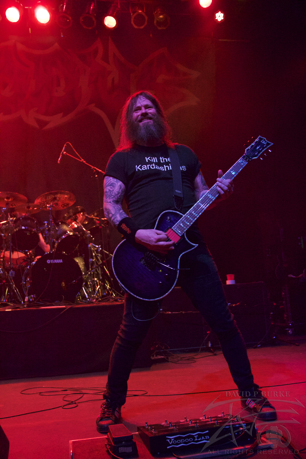 Gary Holt having a blast    photo:David Burke
