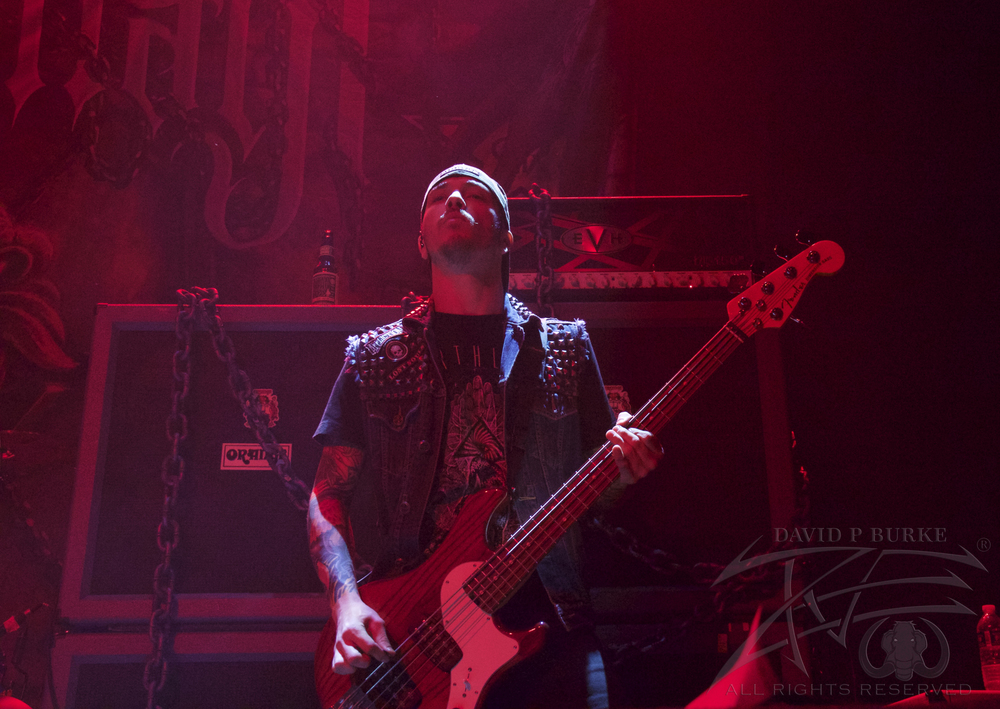 Miss may I bassist Ryan Neff    photo: David Burke