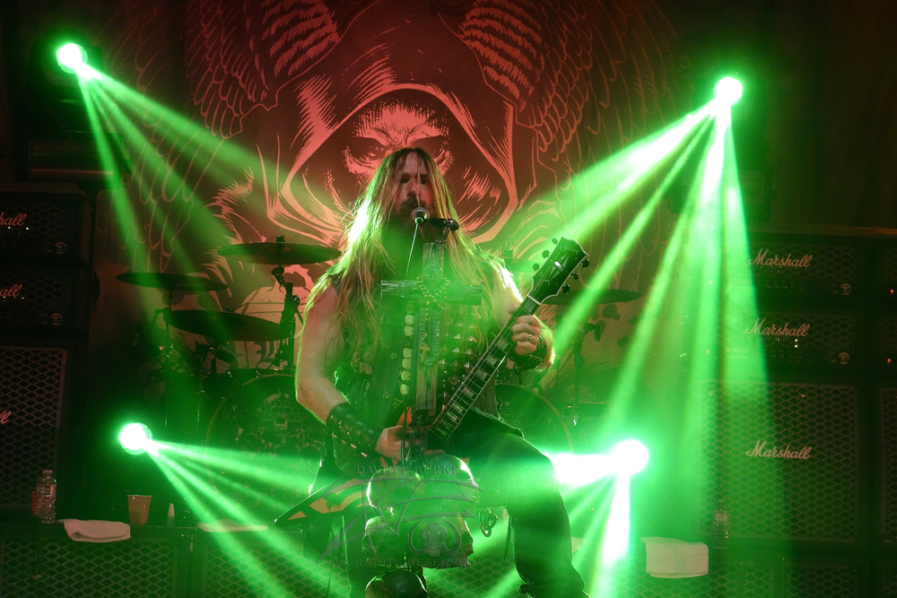 Zakk Wylde in Denver CO June 2014    photo: David Burke