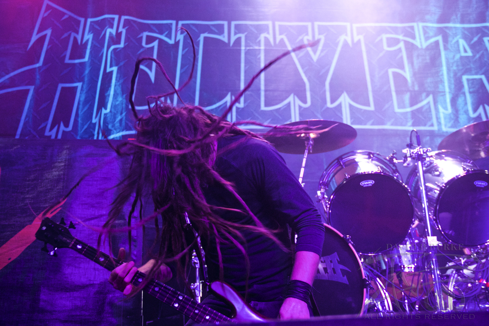 Hellyeah's bassist Kyle Sanders    photo: David Burke