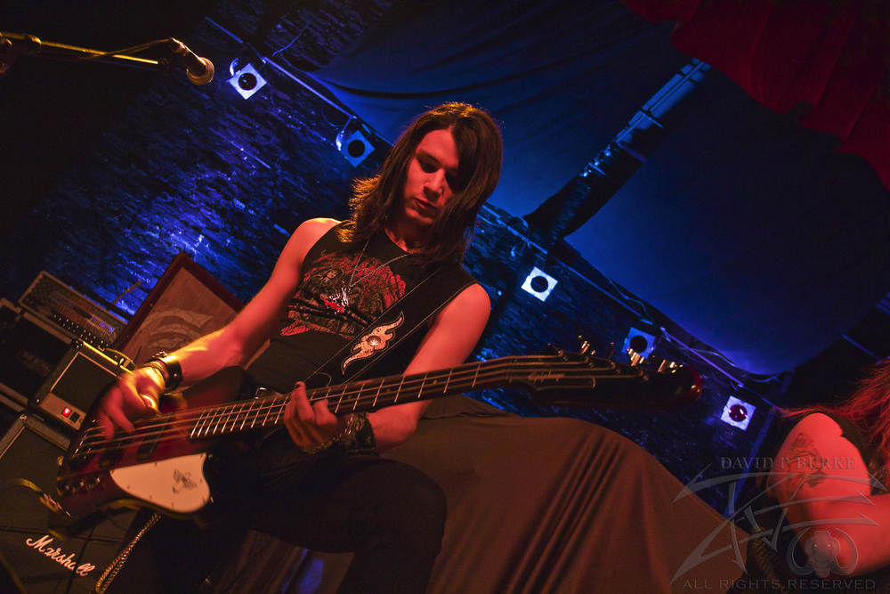Scarlight bassist Aero Marquez    photo: David Burke