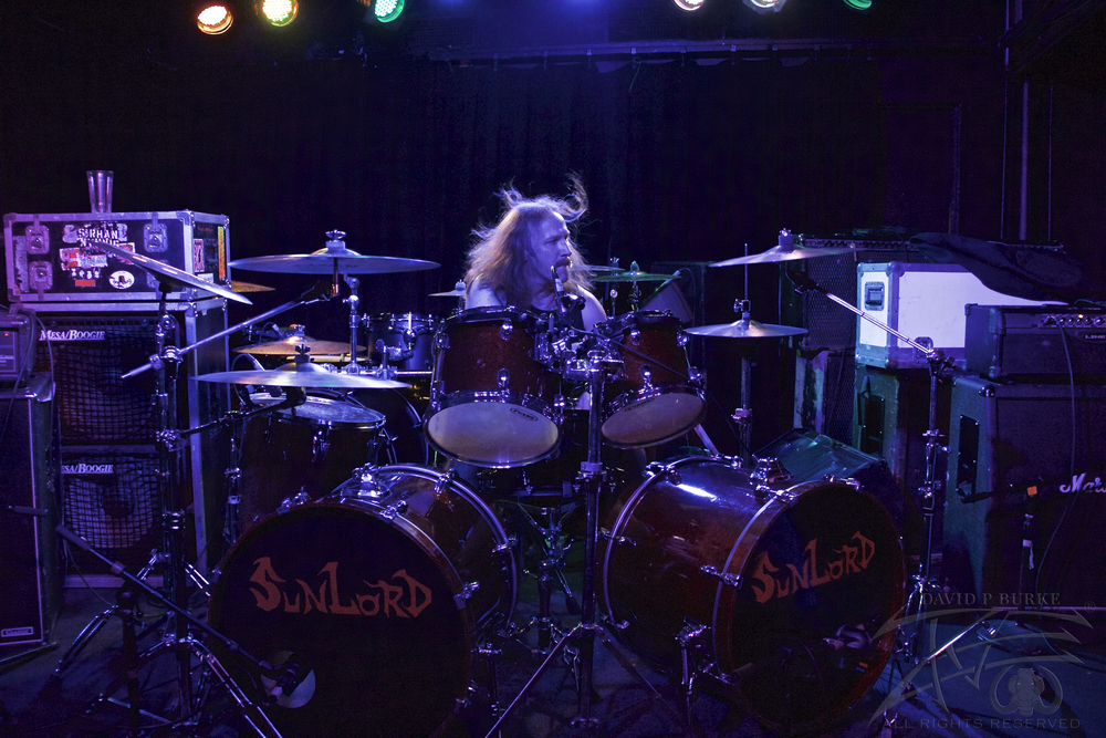 SunLord drummer Tamas    photo: David Burke