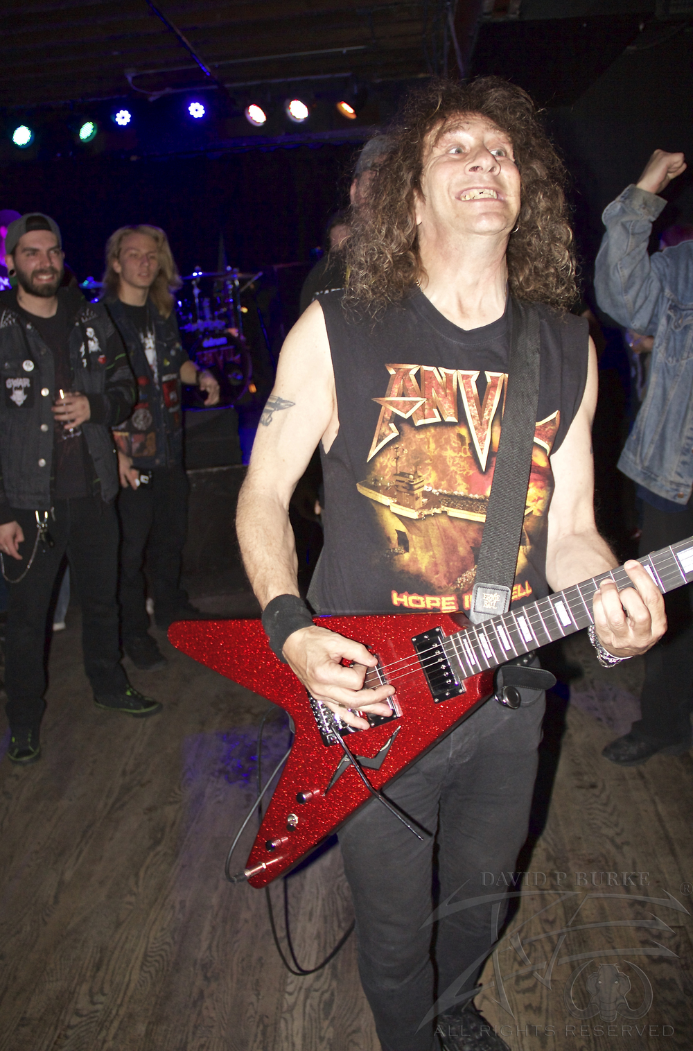"Anvil vocalist/guitarist Steve ""Lips"" Kudlow      photo: David Burke"