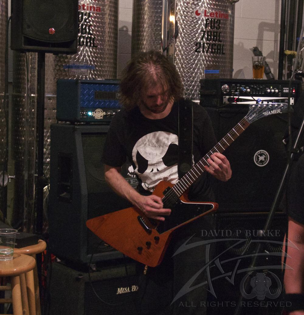 Fist Fight guitarist Nick Rich  photo: David Burke