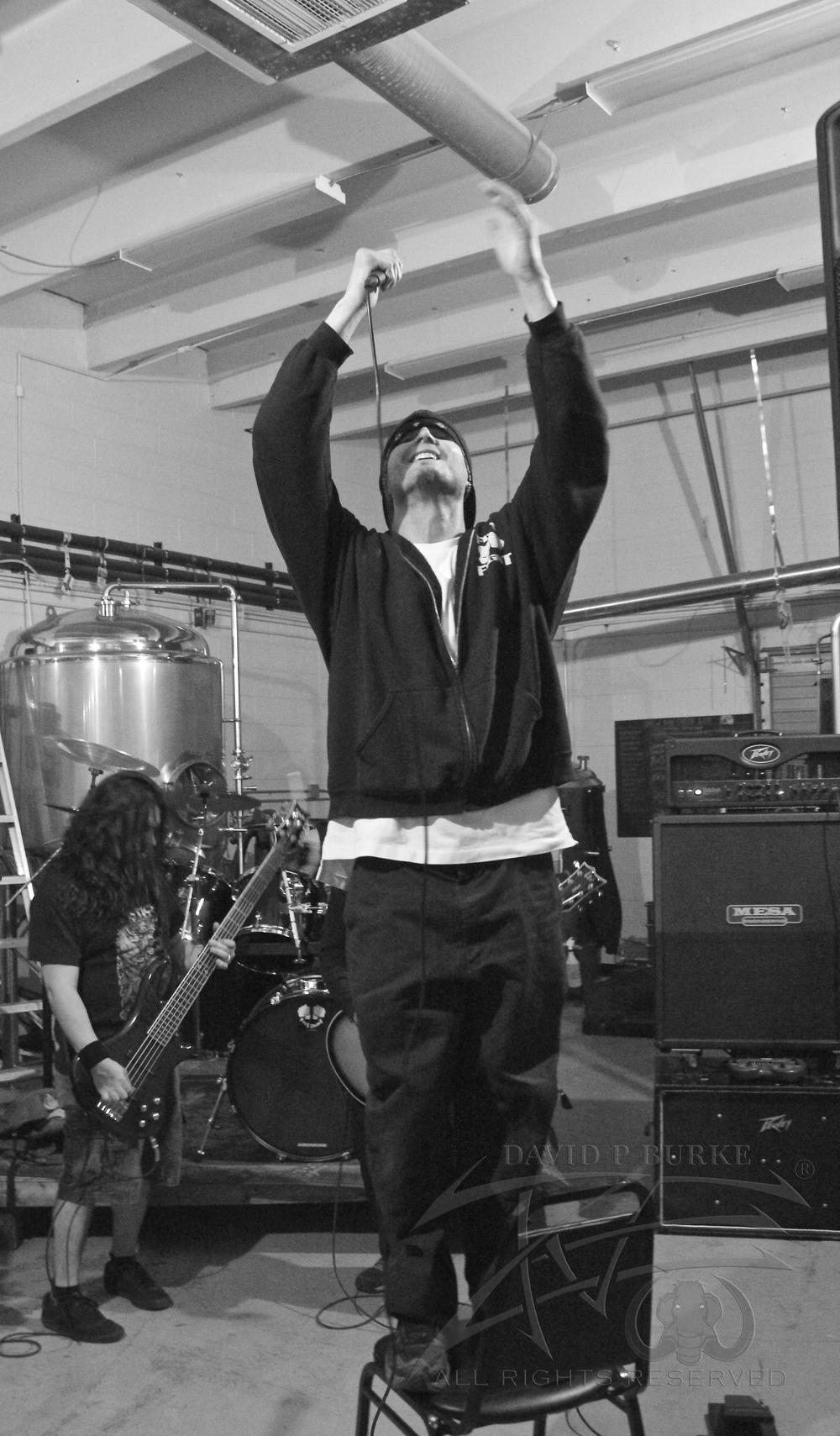Fist Fight vocalist Dustin Hollmer  photo: David Burke