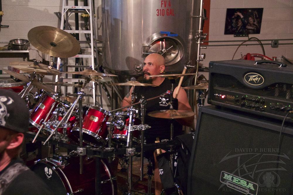 Fist Fight drummer Chris Day  photo: David Burke
