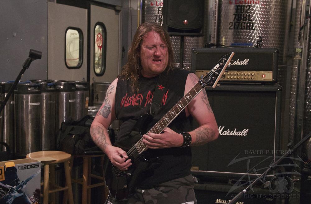 Hallowed Screams guitarist Chris Bartsch  photo: David Burke