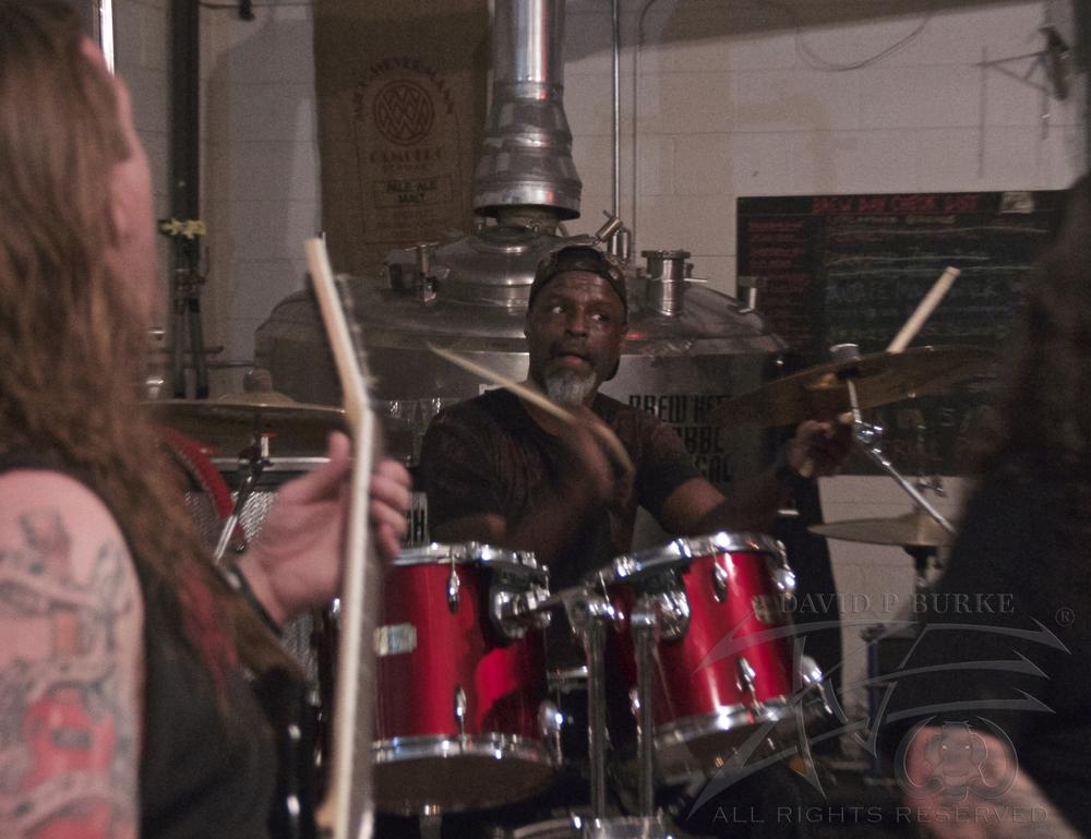 Hallowed Screams drummer Lionel White  photo: David Burke
