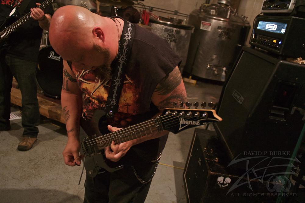 Hallowed Screams guitarist Steve Addison  photo: David Burke