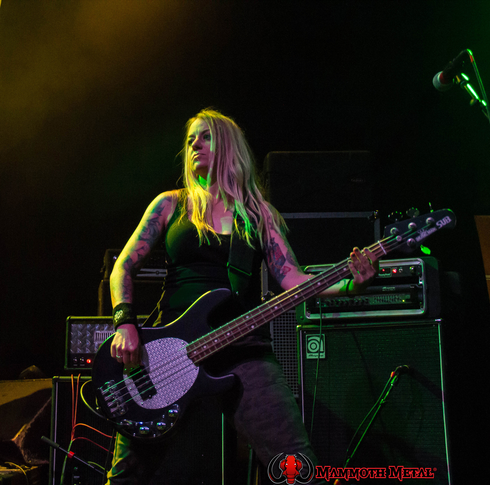 Throttlebomb bassist Jenn McCrorey    photo: David Burke