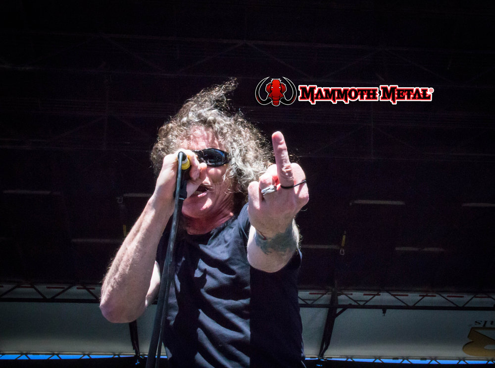 "Overkill's Bobby ""Blitz"" Ellsworth showing mammoth Metal some love    photo: David Burke"