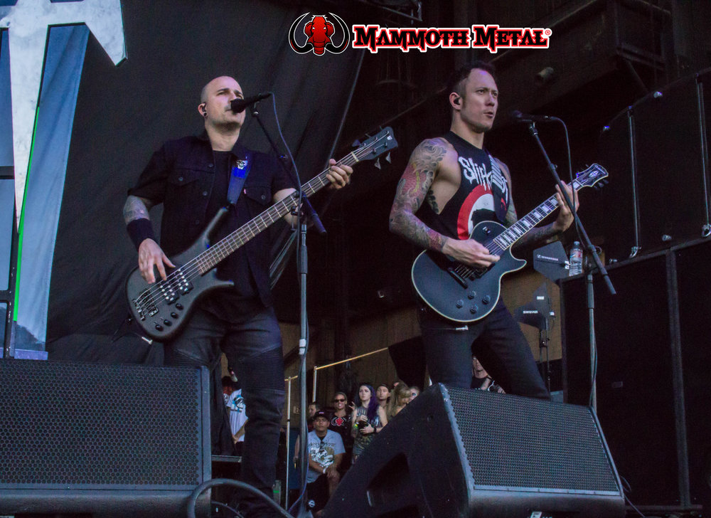 Trivium -spot the mammoth...    photo: David Burke