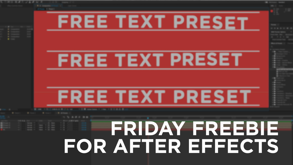 Free Text Preset, After Effects Text Preset, Highlands, Free template, text template, friday freebie, resource,