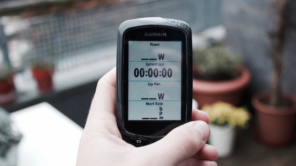 Garmin setup for cycling intervals