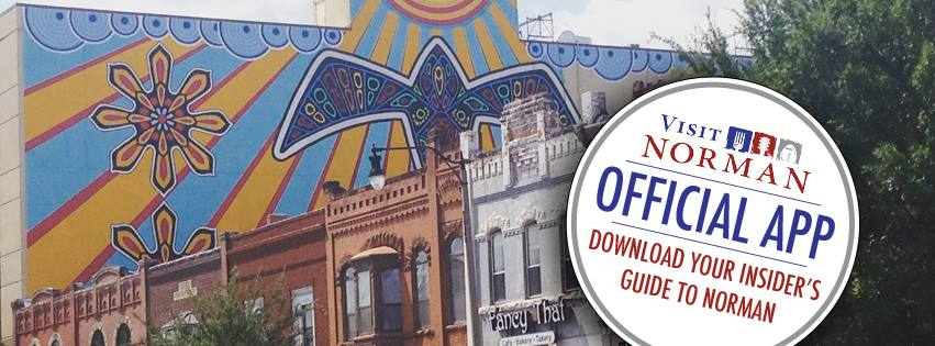 Make sure to download the VisitNorman app for events & a directory of restaurants & shops in Norman.