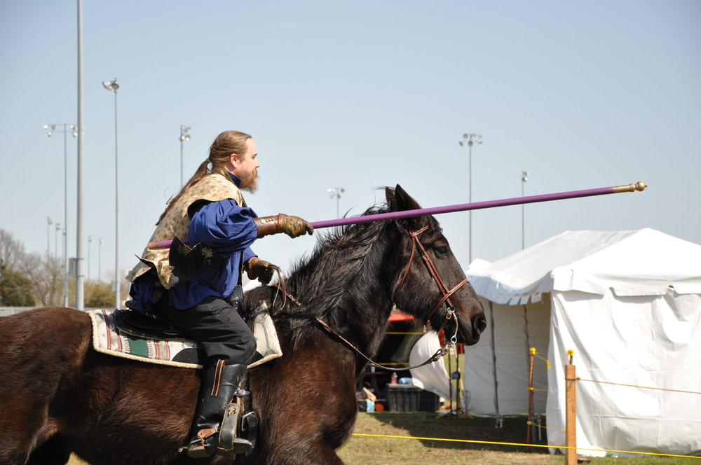 Jousting at the Medieval Fair.