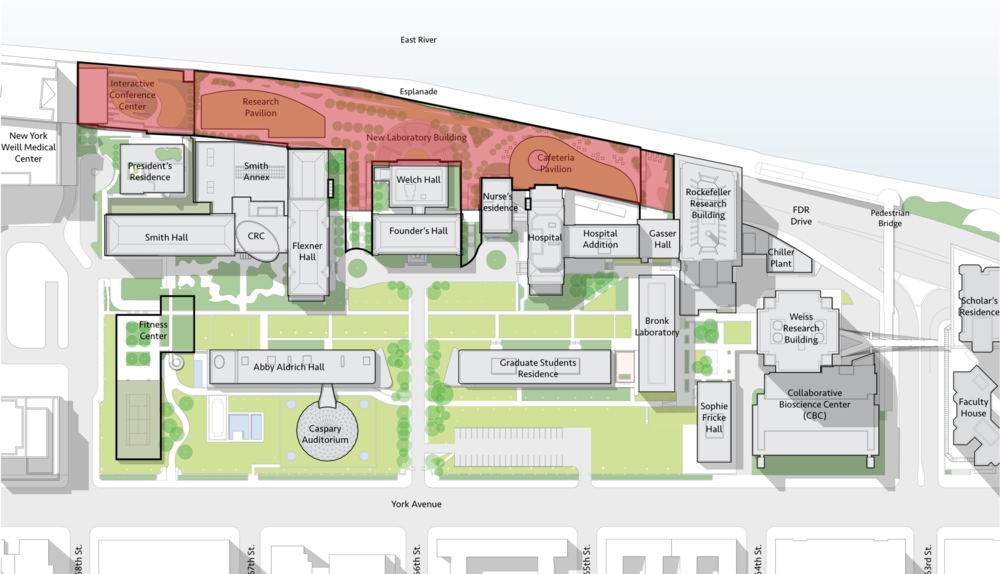 Rockefeller University New Laboratory Building Master Plan, New York, NY***