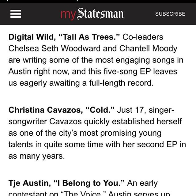 @statesman showing us some much appreciated love! #austinbands #austin #music #dreampop
