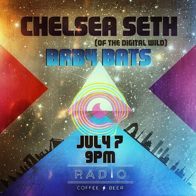 @chelseaseth solo set at @radiocoffeeandbeer Fri 7/7 FREE!!! 9PM sharp!  Support from Baby Bats and @jinx_mcgee