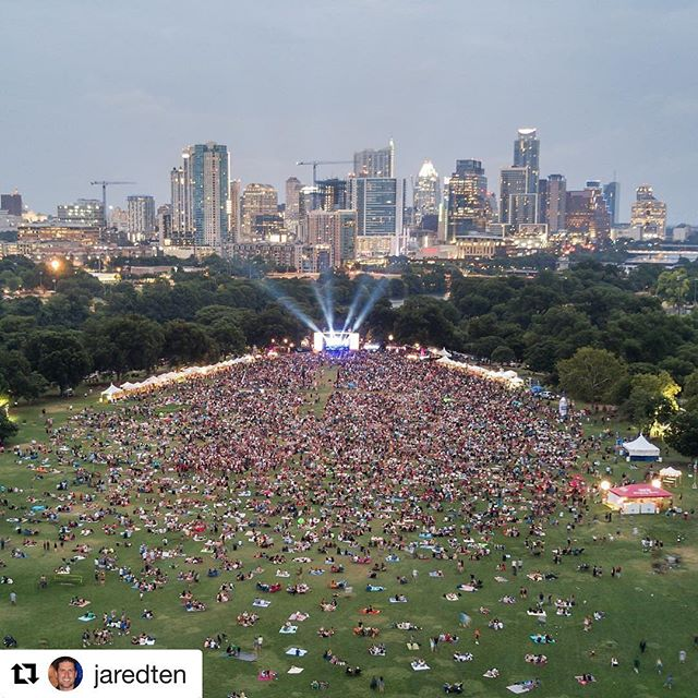 Still have electricity in our bones from our #bluesonthegreen performance last week!  Check out this badass aerial shot @jaredten took!