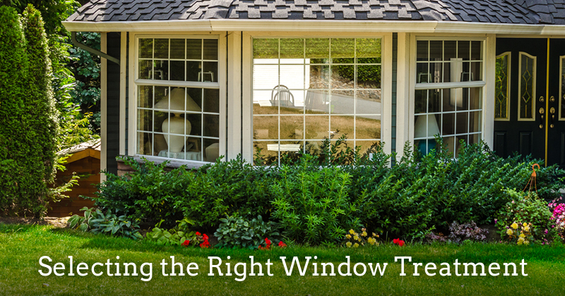 "Is it time to replace your window coverings? If they're worn, damaged or dated, it's probably time to start ""window"" shopping for something new. The good news is that now more than ever there are endless styles and colors to choose from. Find the right window treatment by considering your various options.   Determine Your Style  -- Take a look at your decor and decide if a traditional or more modern style of window coverings would suit your home. Nowadays window coverings come in a wide variety of  finishes, colors and styles .   Choose Your Material  -- Determine what type of material fits your budget and maintenance preferences. Options include fabric, vinyl, aluminum, wood and even faux wood. You could  frame your windows  with curtain panels, opt for pleated or Roman shades, hang asymmetric swags, or mount horizontal or vertical wooden shutters.   Assess Your Functional Preferences  -- Think about your light control and privacy concerns. For example, you may require blackout blinds for a media room or bedrooms but not for the less private areas of your home where sunlight is welcome.   Choose Custom or Off-the-Shelf  -- Decide if you want to go with custom window coverings that are manufactured to fit the interior dimensions of your windows, or if an off-the-shelf window treatment will suit your needs.   Consider Energy Efficiency  -- Think about your heating and cooling needs. Cellular shades help regulate heat loss or gain in addition to controlling the light. If you're likely to forget shade adjustment as a means of temperature regulation, consider  upgrading to motorized shades ."