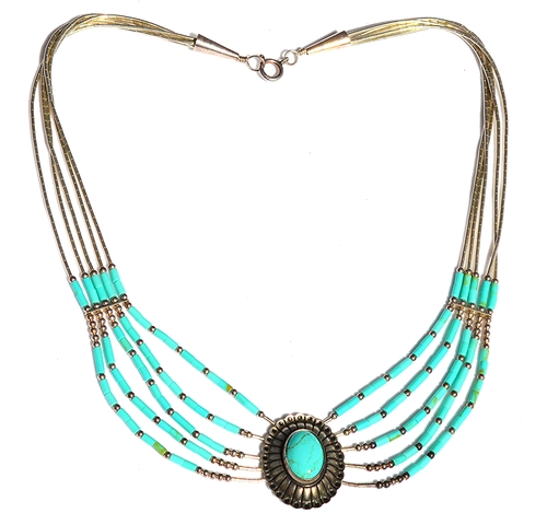 f96b254df Vintage Sterling Liquid Silver and Turquoise Native American Concho ...
