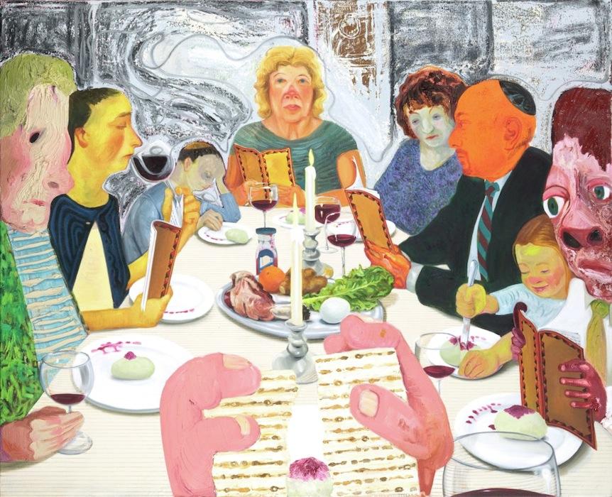 Nicole Eisenman,Seder(©2010, Jewish Museum, New York)
